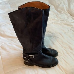 Lucky Brand Blue Jeans America Leather Boots